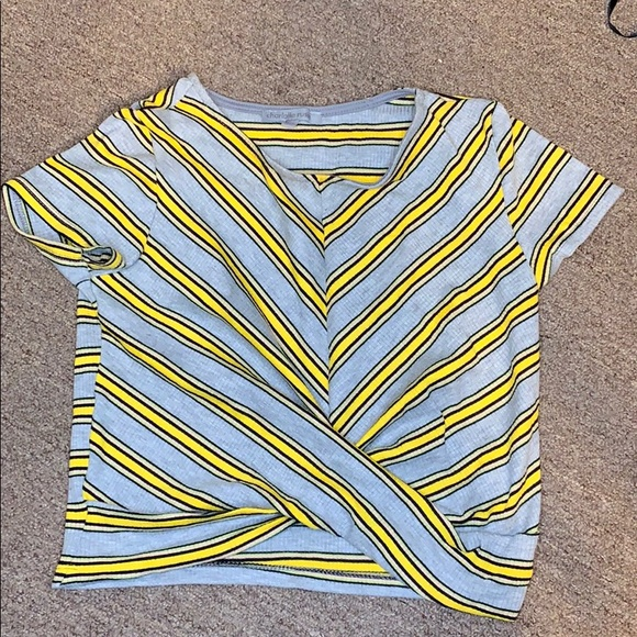 Charlotte Russe Tops - Grey striped shirt